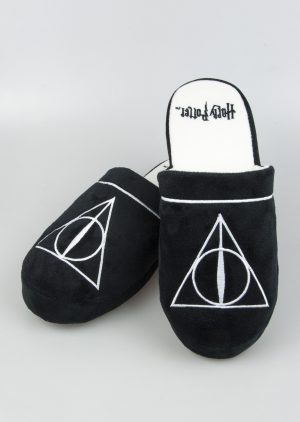 a508b69b430 Harry Potter Deathly Hallows Adult Mule Slippers