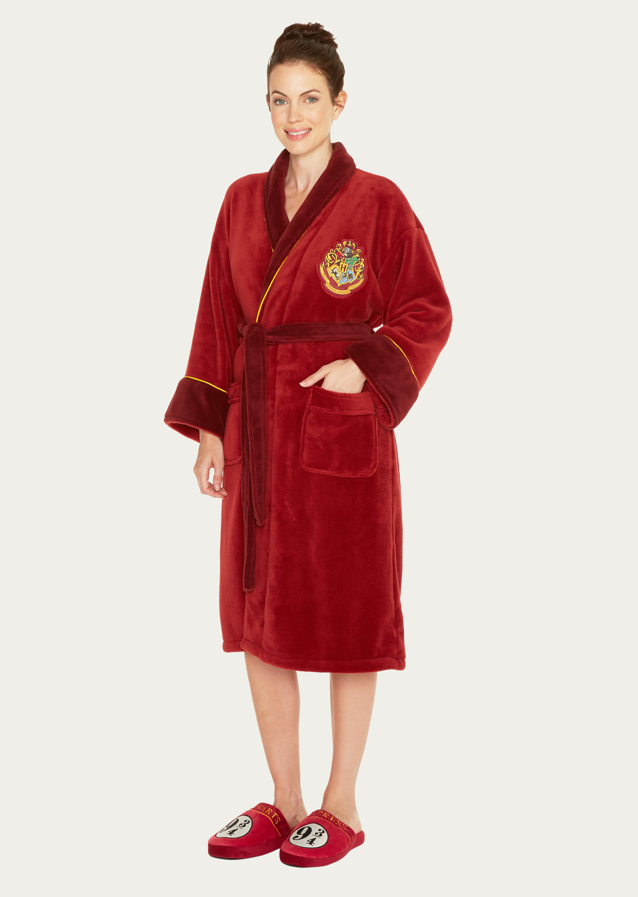 Harry Potter Hogwarts Express 9 3 4 Womens Fleece Bathrobe – Groovy UK 666dc29b6b