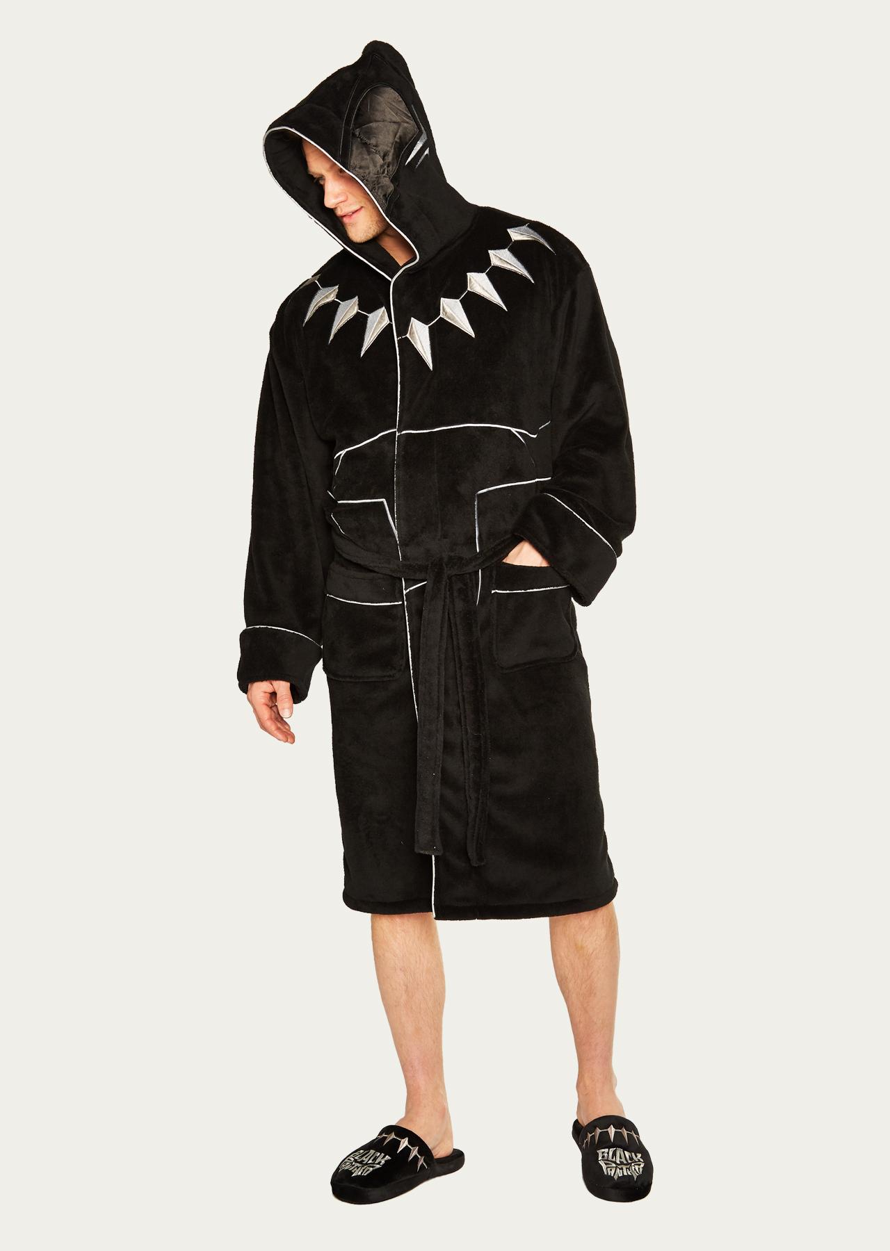 Marvel Black Panther Outfit Adult Fleece Bathrobe – Groovy UK f0bf48749