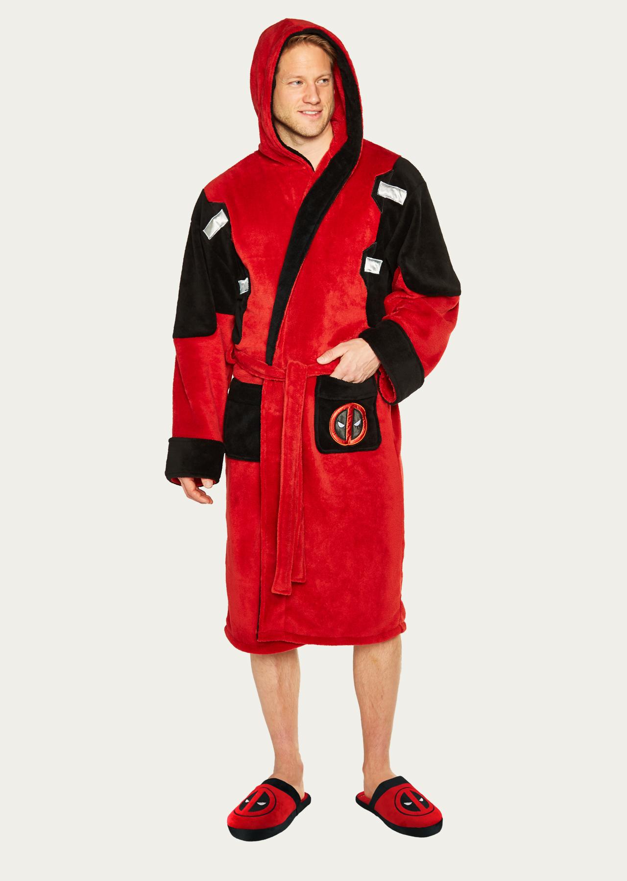 Adult Outfit Fleece Marvel Deadpool Bathrobe SVLpzGqUM