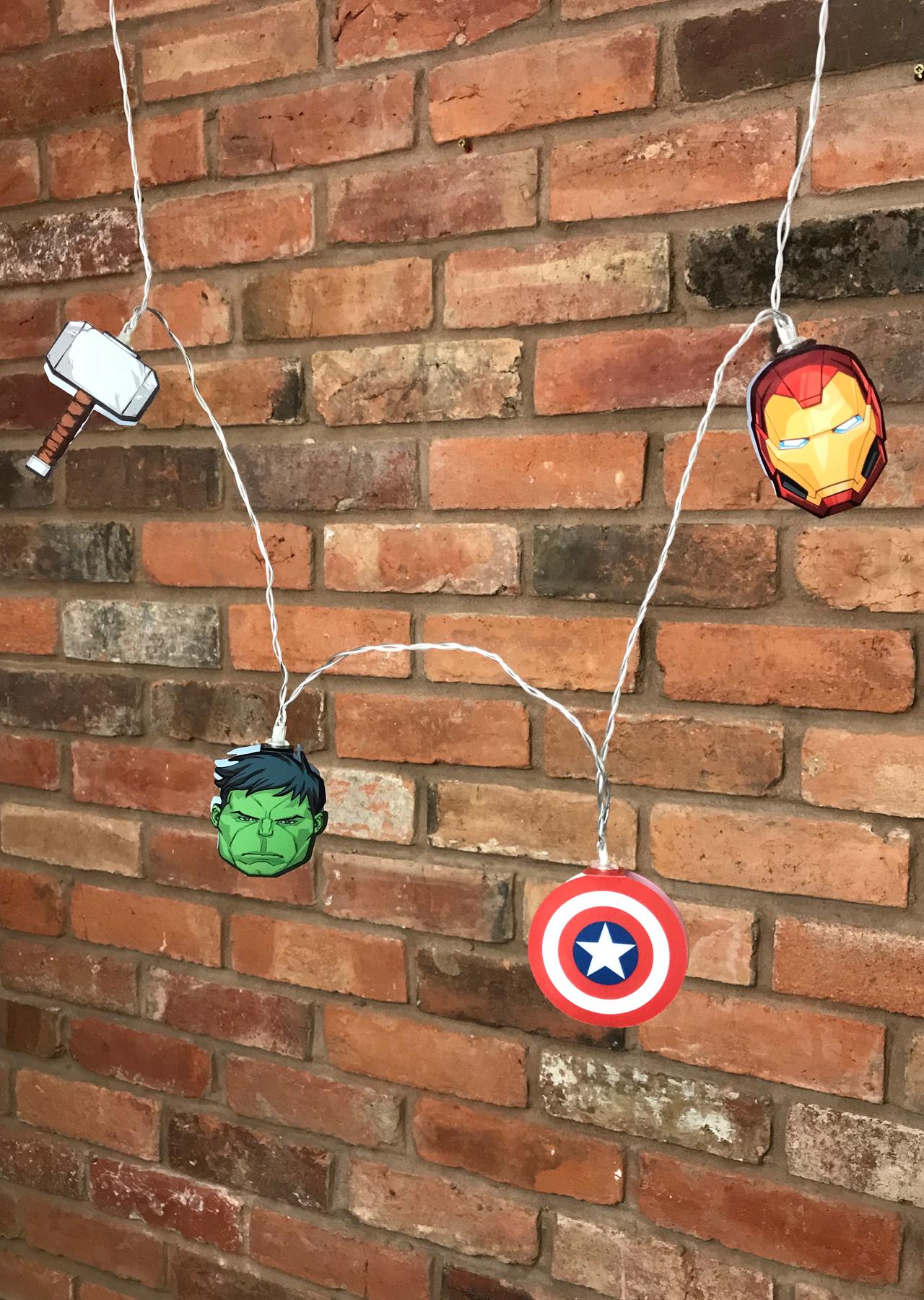 Marvel Avengers Mixed 2d String Lights Groovy Uk