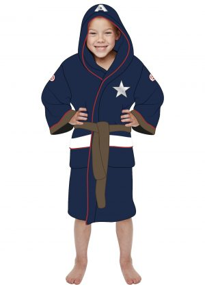 Marvel Captain America Kids Fleece Bathrobe 8bf61fb46