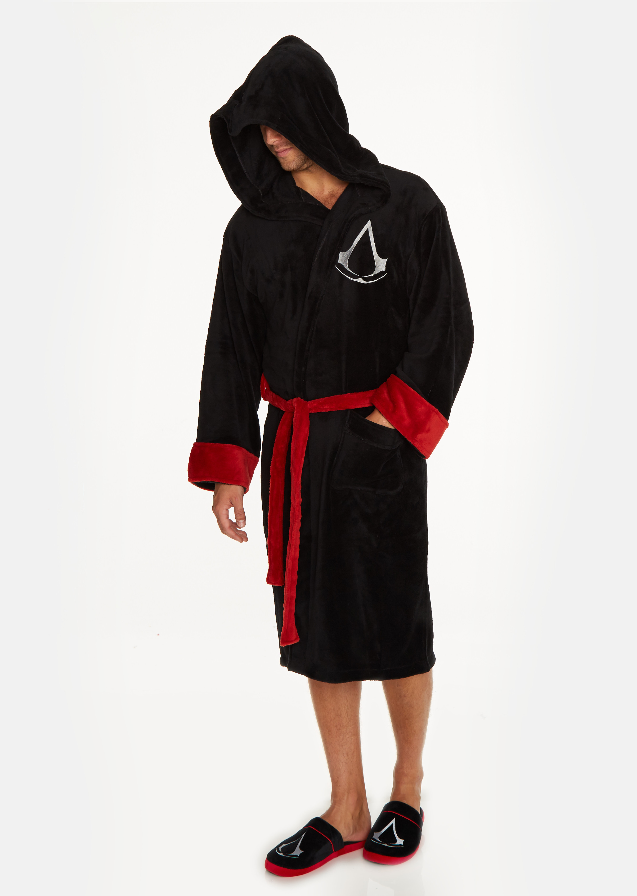 c58547d534 Assassin s Creed Assassin Black Adult Fleece Bathrobe – Groovy UK