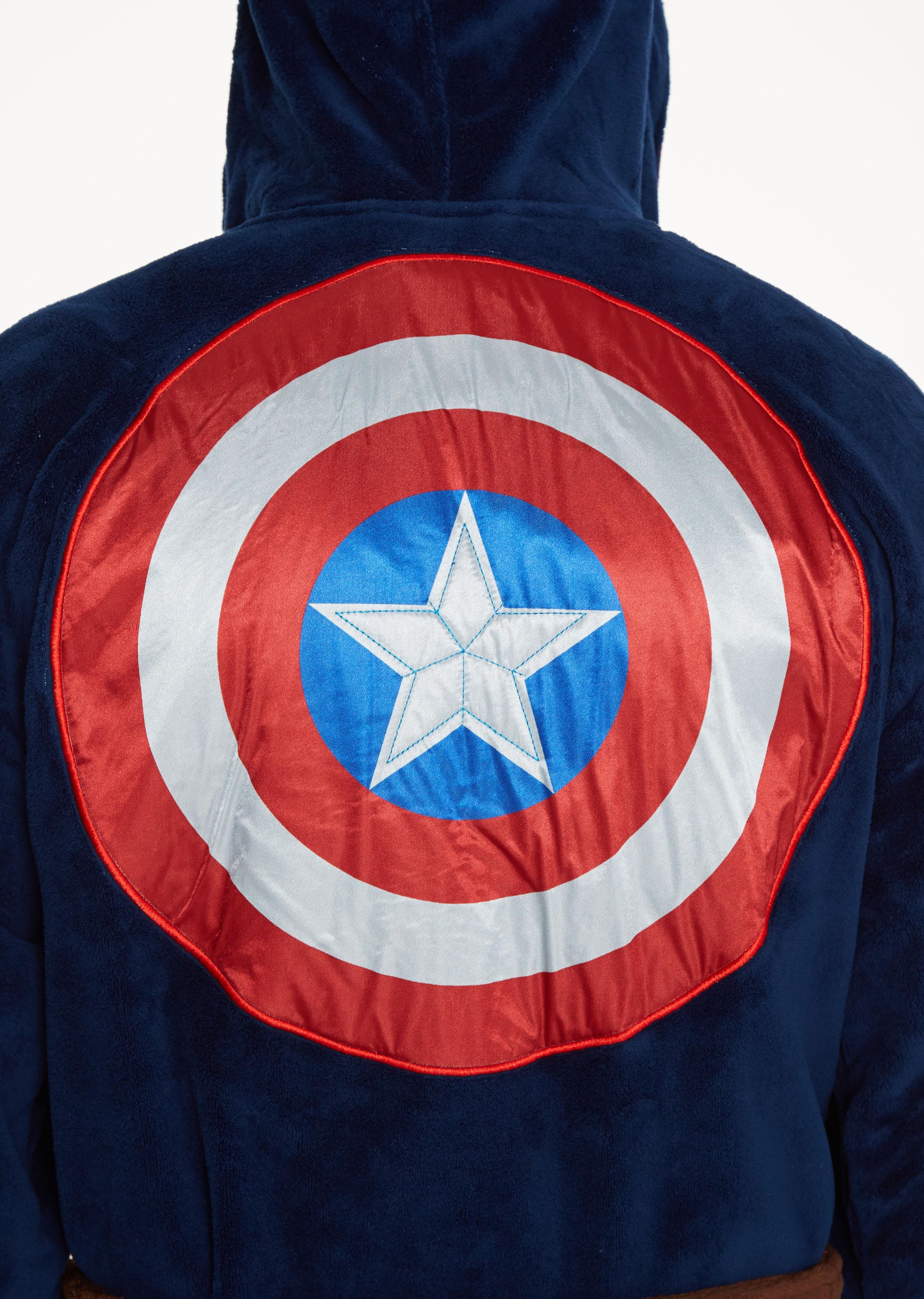 Marvel Captain America Outfit Adult Fleece Bathrobe