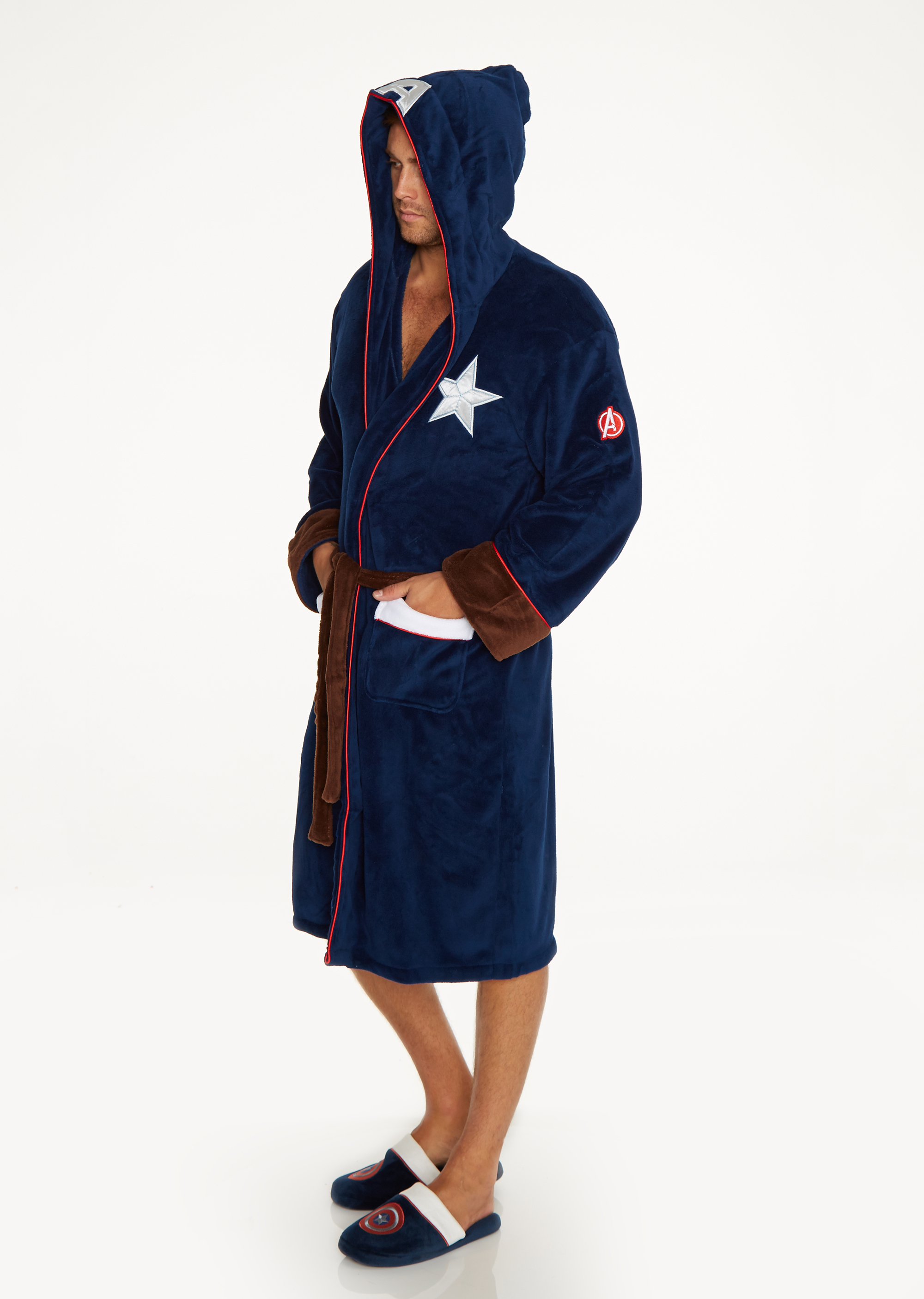 Marvel Captain America Outfit Adult Fleece Bathrobe – Groovy UK 6b65649c1