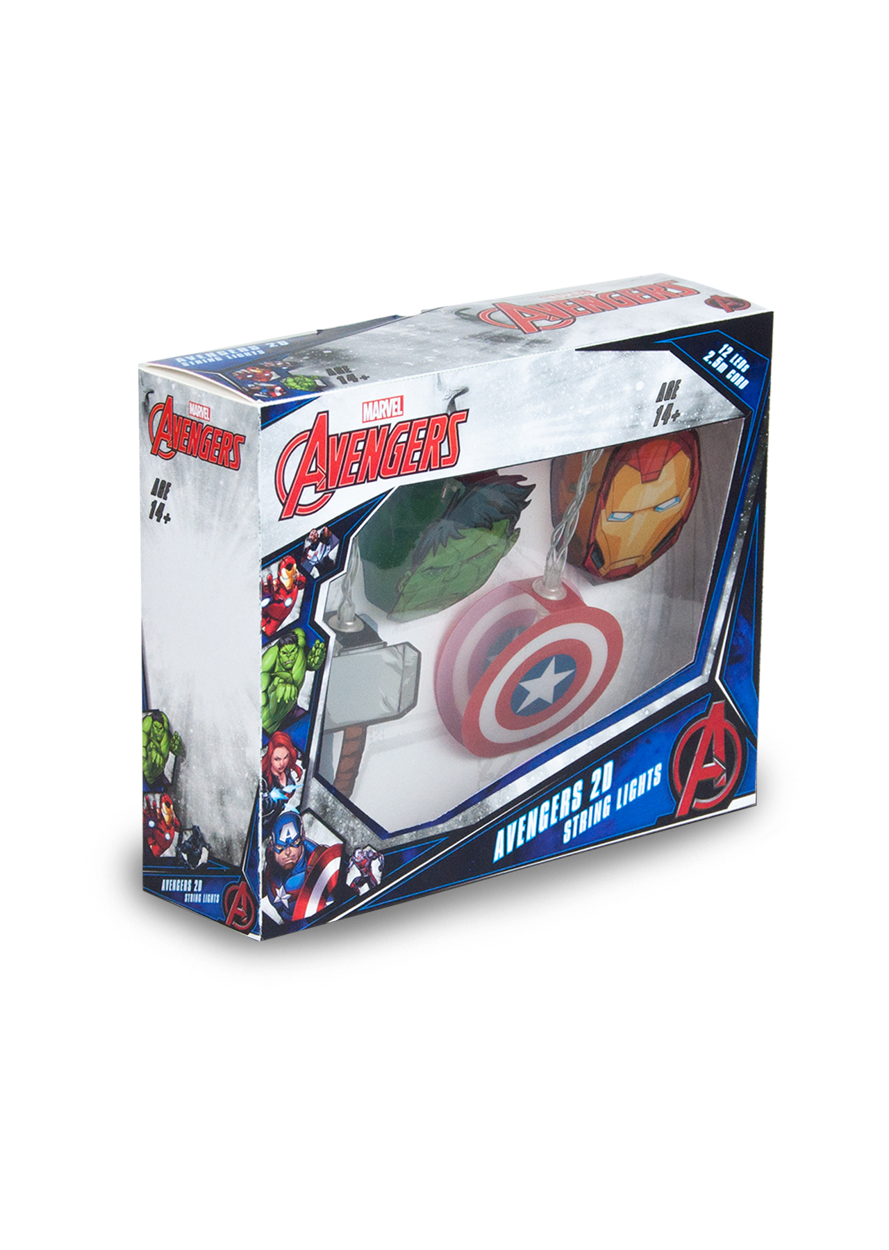 Marvel Avengers Mixed 2d String Lights Groovy Uk