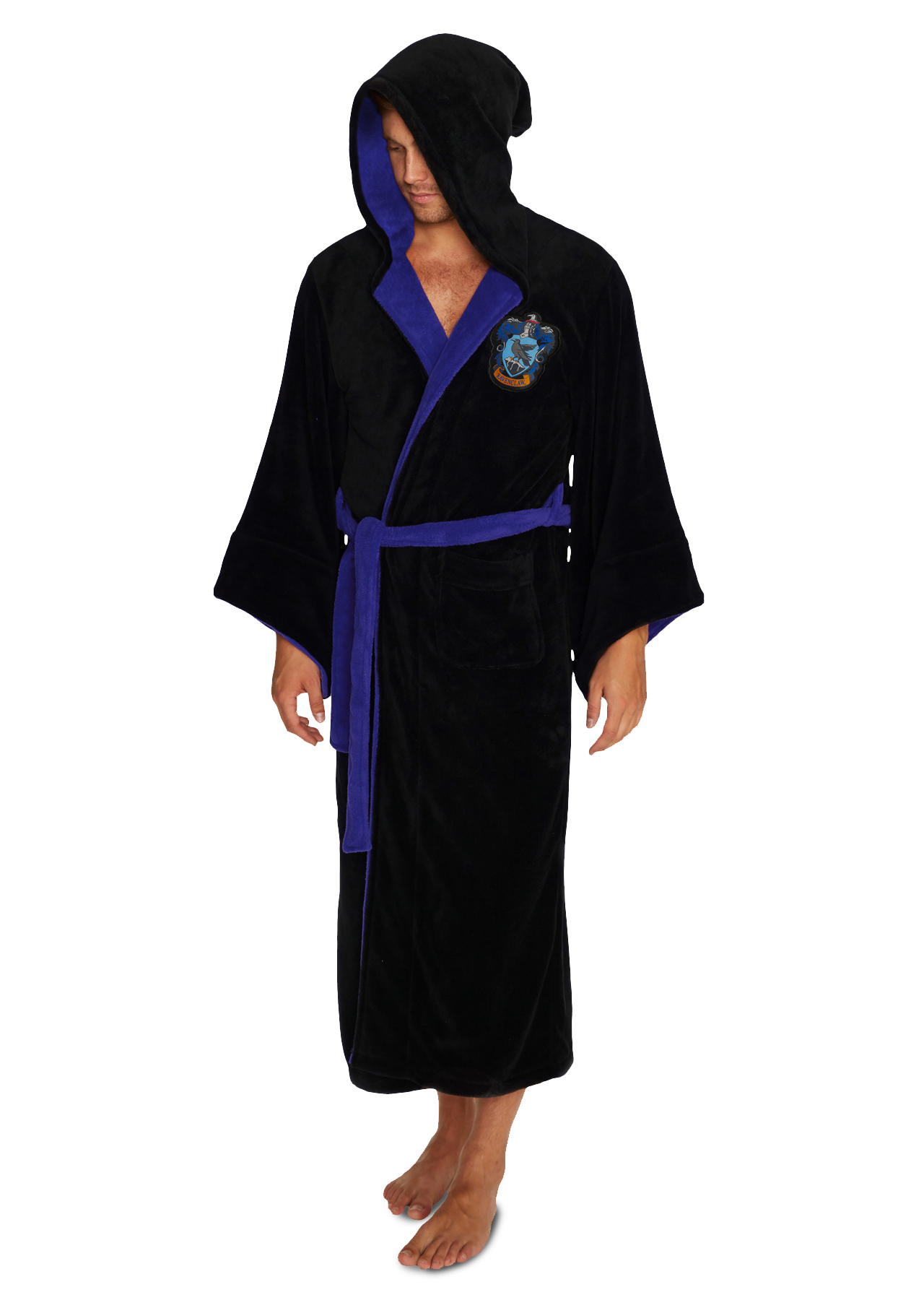 Harry Potter Ravenclaw Mens Fleece Bathrobe – Groovy UK