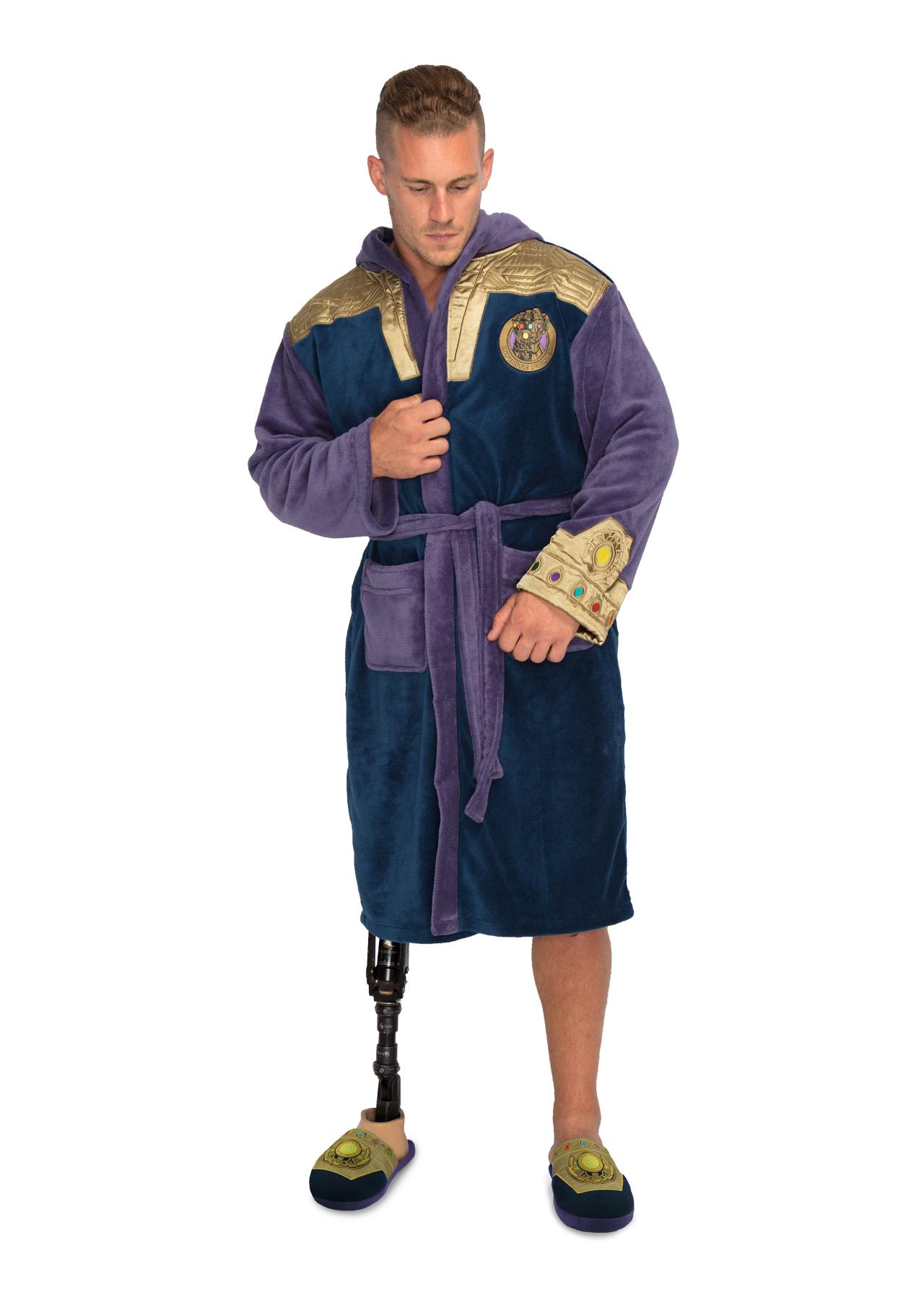 Marvel Thanos Outfit  Gauntlet  Adult Fleece Bathrobe – Groovy UK d3d161d90