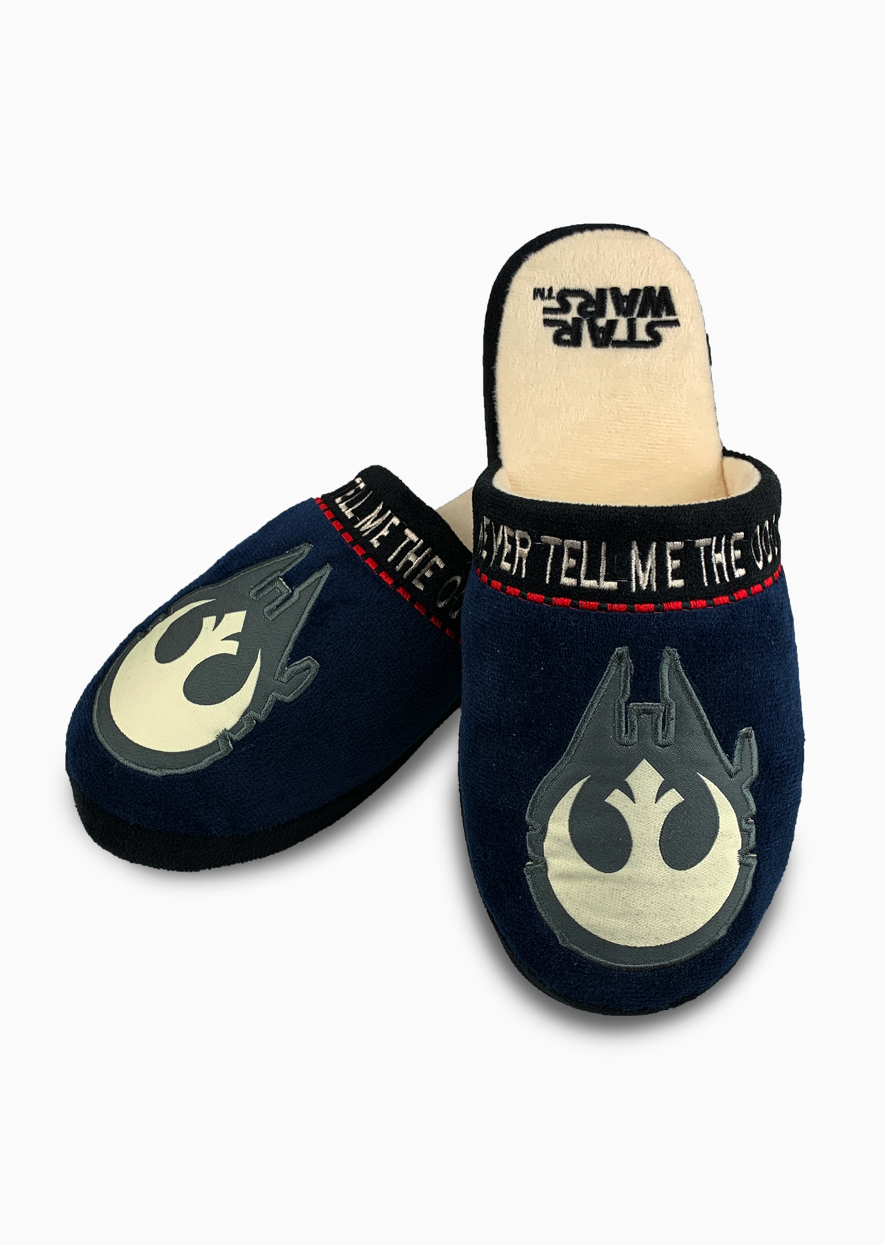Official Star Wars Slippers Last Jedi Adult Slip On Mule Slippers Size 5-7