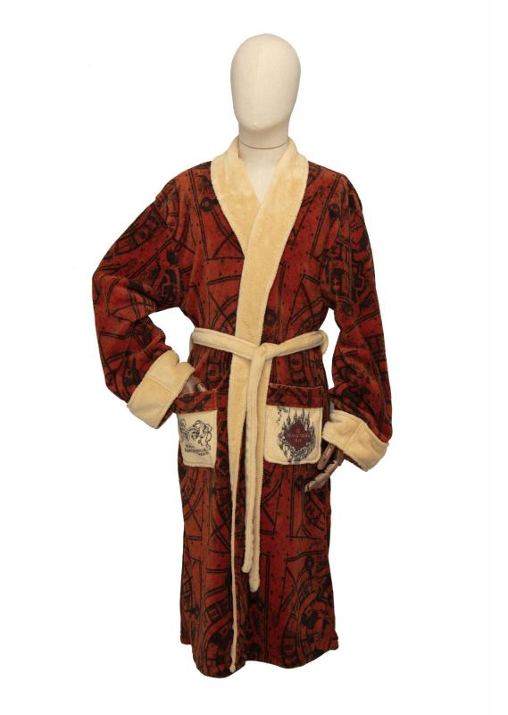 92861_Marauders-Map_Harry-Potter_100-Poly-Fleece_Hoodless_Bathrobe__Mens_Front_WEB