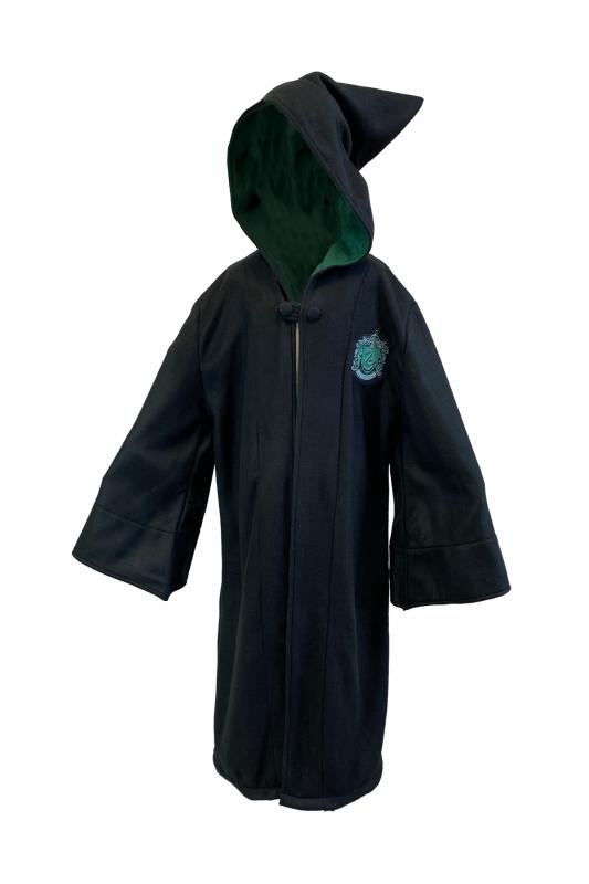 93562_Slytherinr_Long_Length_Robe_Kids_ Black_Logo-Embroidered-on-Chest_F1-web